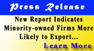 Press Release - Minority-Owned Firms More Likely to Export