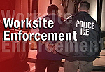 ICE agent makes worksite arrest