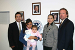 Francisca Garcia-Favila, of Mexico, center, is reunited with baby Alexandra, with from left, Guillermo Ochoa, ICE Attaché, Juarez; Nadia Julieta Salazar Alvarez, Ministrio Publico Federal Procuraduria General de la Republica (PGR); and Richard S. Curry, ICE Assistant Special Agent in Charge