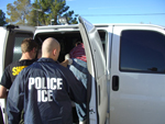 ICE Agents transporting an illegal alien criminal in Phoenix.