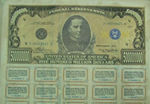 A copy of the counterfeit Federal Reserve notes