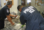 ICE Agents seized 567 kilograms of cocaine, now they are inspecting it.