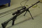 A .50-caliber sniper rifle