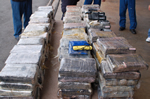 261 kilograms of cocaine displayed