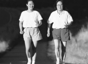 Picture of two Asian women jogging