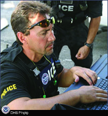 ICE Federal Protective Service Agent on the front-lines providing law enforcement support.