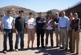 Office of Policy 2007 Honors Fellows at the U.S. southern border in Arizona. March 2008