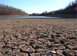 Drought conditions at Woody Hollow State Park in Arkansas