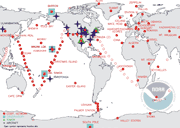 Cooperative Air Sampling Network locations around the world