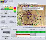 Detailed road conditions software display