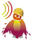 WISE EARS!<sup>®</sup> Owl wearing hardhat.