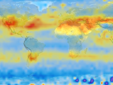 2003 map of world CO2 levels