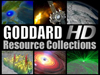 Collage of screen captures from Goddard HD video resource tapes