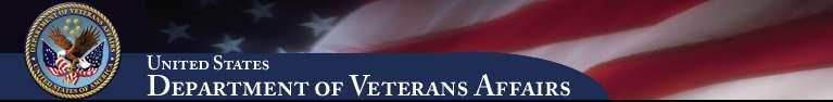 Veterans Affairs banner with U.S. Flag