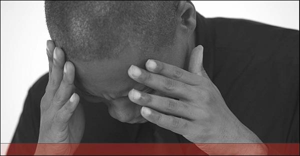 Photograph of burnout sufferer