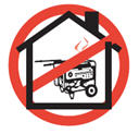 Do not use a generator inside a house