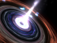 Artist concept of a black hole
