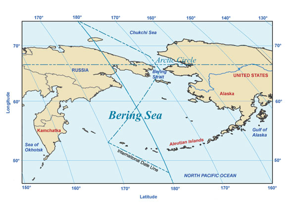 map of the Bering Sea