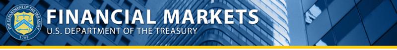 U.S. Department of Treasury Financial Markets Banner Image