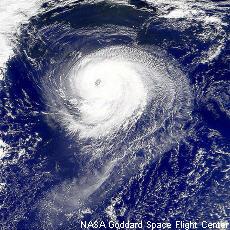 Fotografía de un huracán
