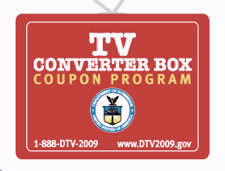 TV Converter Box Coupon logo. Click here for more information on the digital television transition.
