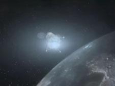 entering lunar orbit