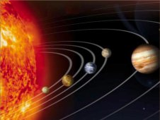 Artist concept of solar system