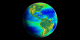 SeaWiFS Biosphere data symbolizing the heartbeat of our planet.