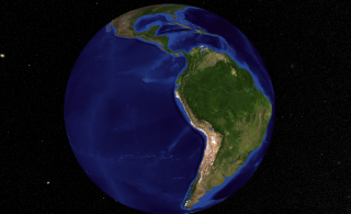 South America, the planet's 4th largest continent, includes (12) countries and (3) major territories. It contains the massive Amazon River and surrounding basin - the largest tropical rain forest in the world; the toothy-edged Andes Mountains, that stretch the entire length of the continent, and some of the most diverse and spectacular landforms on the planet.