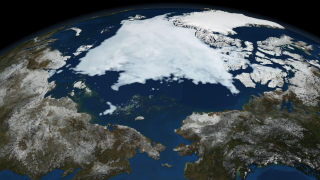 Image of Arctic sea ice on September 9,2008.