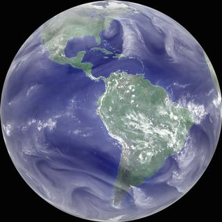 Global Water Vapor showing the parade of 1995 hurricanes in the Atlantic