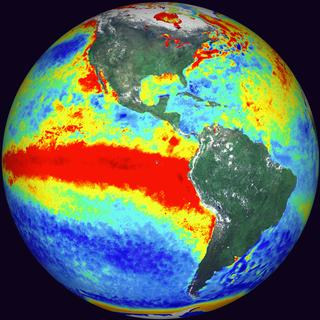 Sea Surface Temperature Anomalies showing the 1998 El Nino event