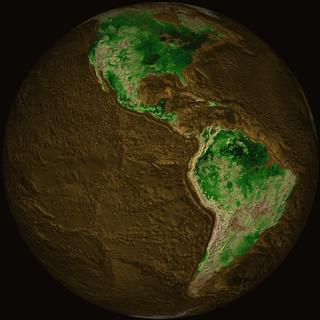 Topographic Map of Earth