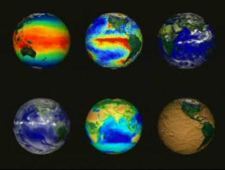 The Earth Today exhibit produces near-realtime animations based on current data.  This sample animation shows an example of how such animations are displayed.