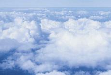 Photograph of cloudbanks, aerial view