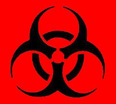 Illustration of a biohazard symbol