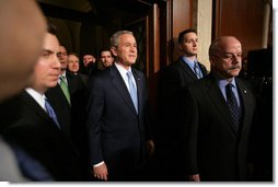 President George W. Bush enters the House Chamber of the U.S. Capitol for his State of the Union address, Tuesday, Jan. 23, 2007. White House photo by David Bohrer