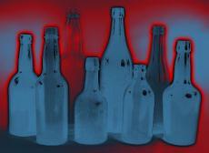 Ilustración de unas botellas de vidrio