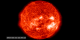 This movie displays nearly two weeks of EIT 304 Ångstrom data from around Halloween 2003.