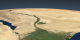 This animation shows seasonal landcover change over the Nile delta in 2004.  Three yearly cycles are shown, displayed at a rate of two months per second.
