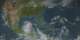 Hurricane Dean hits the Yucatan Peninsula on August 21, 2007.