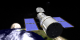 This animation allows us to take a look over Hubble's shoulder as the Moon rises above Earth.