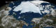 This animation shows Arctic sea ice from January 1 to September 9, 2008 with Alaska in the foreground. The date is displayed in the upper left corner.