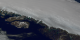 This animation shows the flow of the Jakobshavn glacier in 2000, followed by a time series of the glacier's retreat from 2001 through 2006.  A colored line and date marks the position of the glacier's calving front each year.