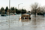 Photo of street submerged by flood waters