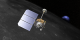 This animation is a close-up view highlighting spacecraft instrumentation - pulling away to reveal LRO's track over the moon.