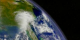 A slow flyby of the SeaStar satellite orbiting the Earth. The imagery on the Earth was taken by the SeaWiFS instrument onboard the SeaStar satellite.