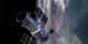 This is an animation of the Hubble spacecraft flying 360 miles above the earth.