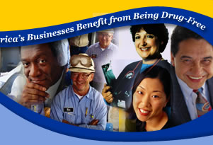Helping America's Businesses Benefit from Being Drug-Free.  Photos representing the workforce - Digital Imagery© copyright 2001 PhotoDisc, Inc.