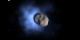 Comet Encke being hit by CME